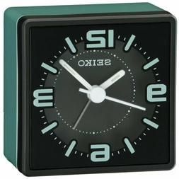 Seiko Alarm Clock Bedside Quartz Black and Green QHE091ZLH