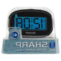 Sharp Alarm Clock Blue Digital LCD Display BRAND NEW
