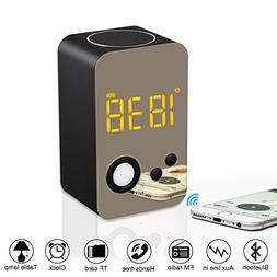 Alarm Clock Bluetooth Speaker - XREXS Wireless Bluetooth Spe