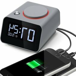 Alarm Clock Charger,Digital Alarm Clock For Bedroom,With Dua