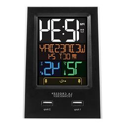 New LA Crosse Technology Alarm Clock Charging Station With 2