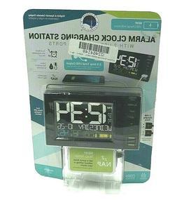 Alarm Clock Charging Station La Crosse Technology w/ 2 USB P