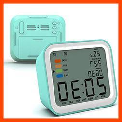Alarm Clock Digital 3 Alarms Optional Weekday Mode Snooze No