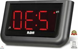 Alarm Clock Digital Loud LED Display Electric Battery Backup