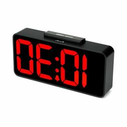 Alarm Clock Digital Red Led With Usb Port Decorative For Bed