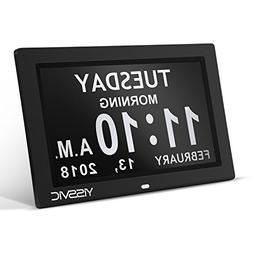 YISSVIC Digital Alarm Clock 9 Inches Large Display Calendar