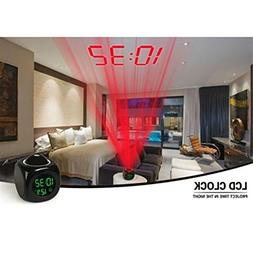 Alarm Clock Digital LCD Display Voice Talking LED Projection