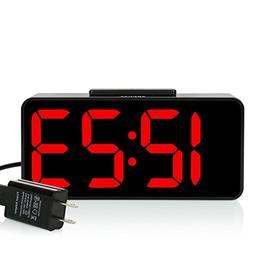 ZHPUAT Digital Alarm Clock with 8.9 Large LED Display, Dimme