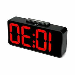 DreamSky Auto Time Set Alarm Clock with USB Port for Chargin