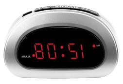 Mainstays LED Digital Alarm Clock Electric w/ Battery Backup
