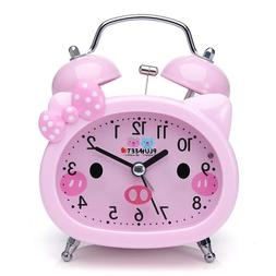 Alarm Clock Extra Super Loud Analog Cute Travel For Kids Gir