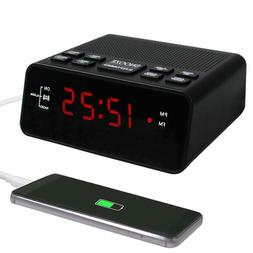 Alarm Clock Fm Digital Radio For Bedrooms With Usd Charger R