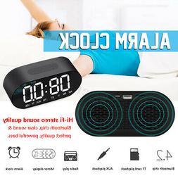 Alarm Clock FM MP3 Radio Wireless bluetooth Speaker Mirror A
