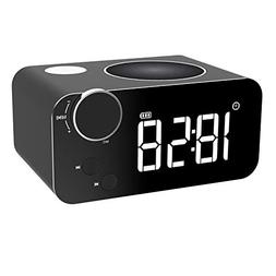 Alarm Clock FM Radio Bluetooth Speaker for Bedrooms Wireless
