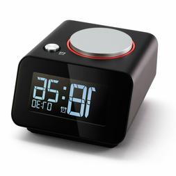 Homtime Alarm Clock for Bedroom, Dual USB Charger Ports for