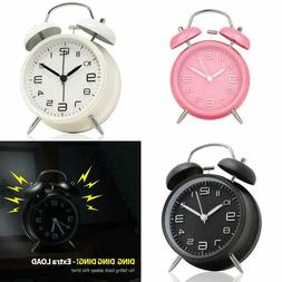 Wakeup Alarm Clock For Heavy Sleepers Twin Bell Metal Frame