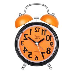 Alarm Clock for Heavy Sleepers, Twin Bell Cute Silent Moveme