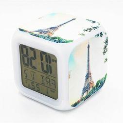 Boyan Led Alarm Clock France Paris Eiffel Tower Design Creat
