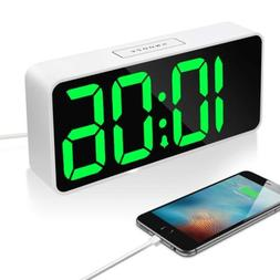 "9"" Large LED Digital Alarm Clock with USB Port for Phone Cha"