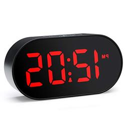 Plumeet Digital LED Alarm Clock with Dimmer and Snooze, 2 Le