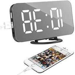 "Alarm Clocks Clock, LED Digital With 6.5"" Large Display, Dua"