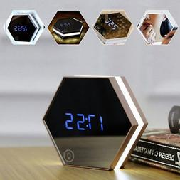 Alarm Clock LED Makeup Mirror Table Lamp with Touch LED Eye