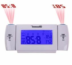 Alarm Clock LED Screen Multi Functional Projection Display W
