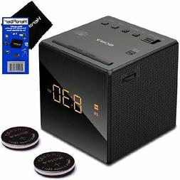 Sony Alarm Clock with Gradual Wake Alarm, Extendable Snooze,