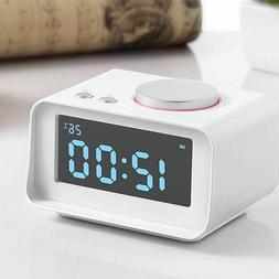 Alarm Clock Mini Digital Led Snooze With Dual Alarms Aux Usb