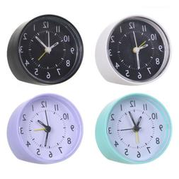 Alarm Clock Mini Retro Round For Kids Gift Home Office Room