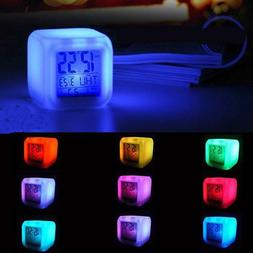 digital alarm clocks led glowing cube style