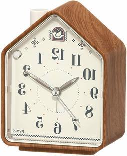 Seiko alarm clock - nature sound  PYXIS brown wood grain pat
