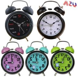 Alarm Clock No Ticking Silent Analog Super Loud Backlight Re