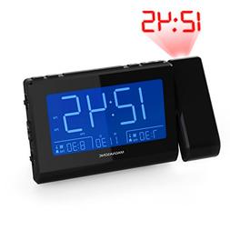 Magnasonic Alarm Clock Radio with Time Projection, Auto Dimm