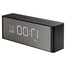 Abuzhen Wireless Speaker with Alarm Clock, Digital FM Radio,