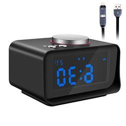 Alarm Clock Radio, Fywonder Digital Alarm Clock, Dual USB Ch