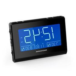 Magnasonic Alarm Clock Radio with Battery Backup, Dual Gradu