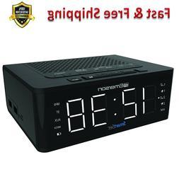 Alarm Clock Radio Bluetooth Speaker Charging Station 2 USB P