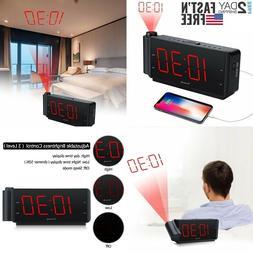 Dreamsky Alarm Clock Radio Buzzer Projection Led Snooze Dual