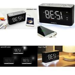 Itoma Alarm Clock Radio, Digital Fm Radio, Dual Alarm, Cell