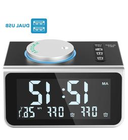 Alarm-Clock-Radio-for-Heavy-Sleepers W Dual Alarms,3.2'' Dig