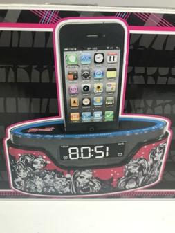 Monster High Alarm Clock Radio iPhone iPod Dock Charger READ