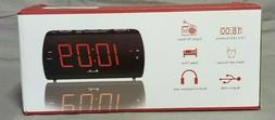 Alarm Clock Radio, DreamSky Large with FM Radio and USB Port