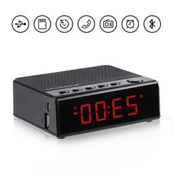 alarm clock radio with audio bluetooth speaker