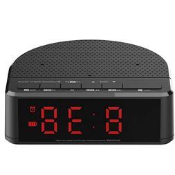 Alarm Clock Radio with Bluetooth Speaker,FM radio,Red Digit