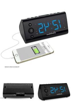 Alarm Clock Radio with USB Charging Dual Alarm Battery Backu
