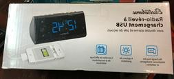 Electrohome Alarm Clock Radio with USB Charging for Smartpho