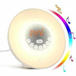 Alarm Clock Radios Clock, Digital LED Wake Up Light Sunrise