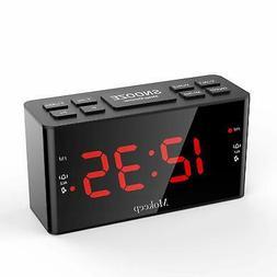 Alarm Clock Radios, Digital AM FM Alarm Radio Clock with LED