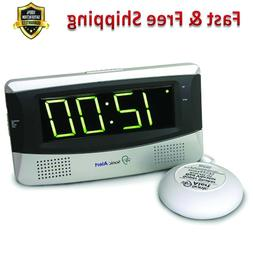Alarm Clock Sonic Boom Loud Vibrating Large Display Adjust T